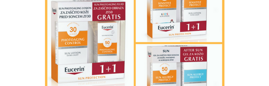 Eucerin sun dvojno pakiranje – drugi izdelek gratis